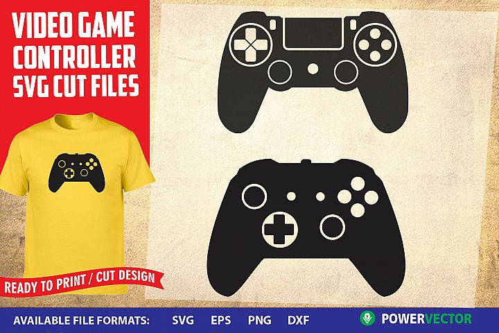 Video Game Controllers SVG - PSP Xbox Game Console Cut Files