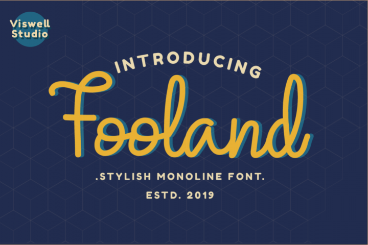 Fooland - Monoline Script Font