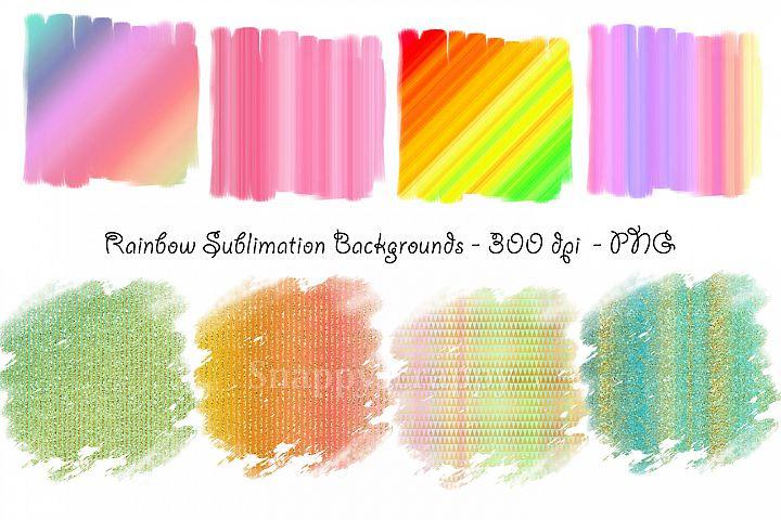 Rainbow Sublimation Backgrounds