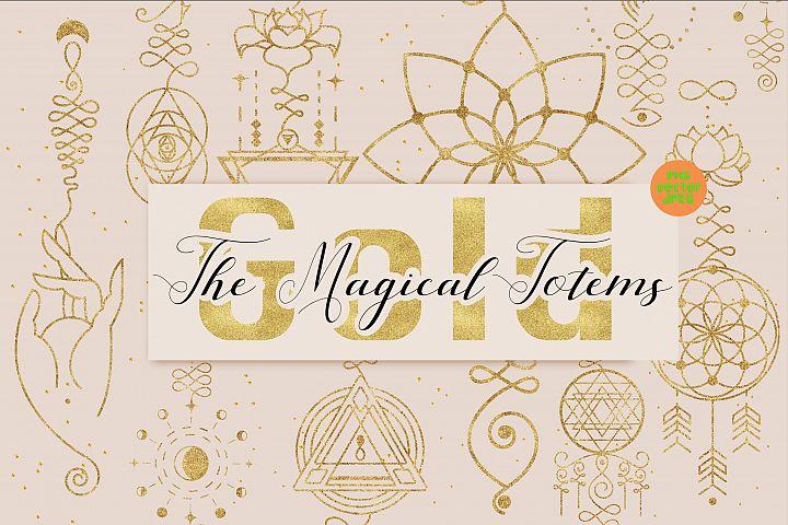 Golden Magic Totems