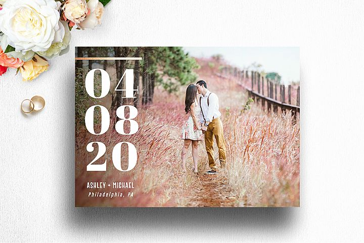 Save The Date Photo Card Template for Photographer | 002
