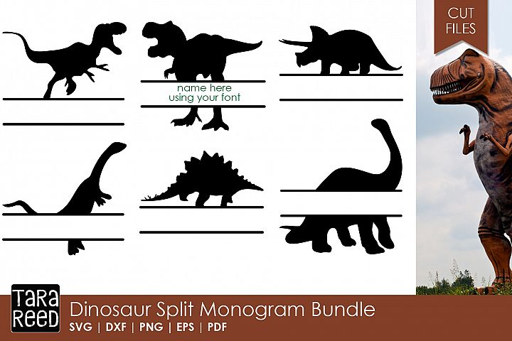 Dinosaur Split Monogram Bundle example 1