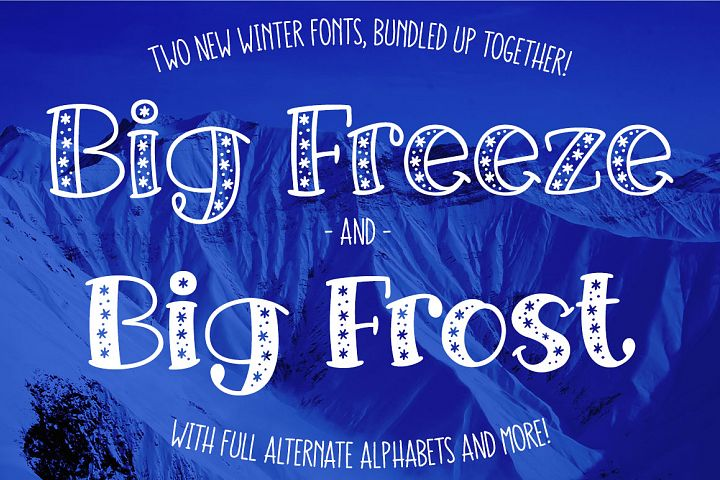 Big Freeze & Big Frost winter font duo