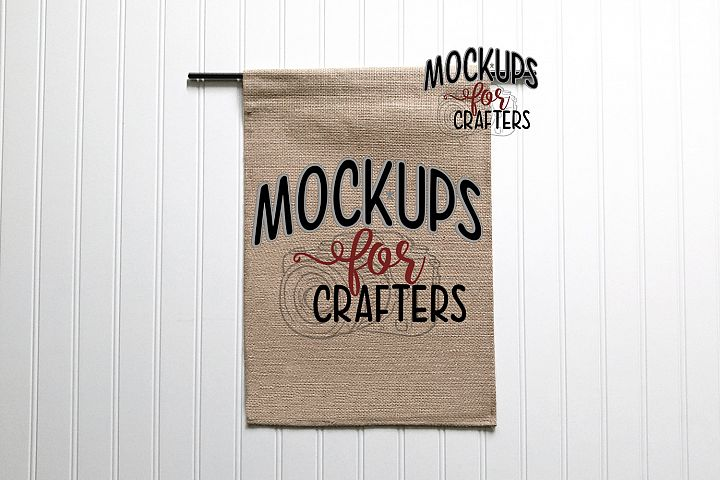 MOCK-UP - Burlap Flag 12x18,