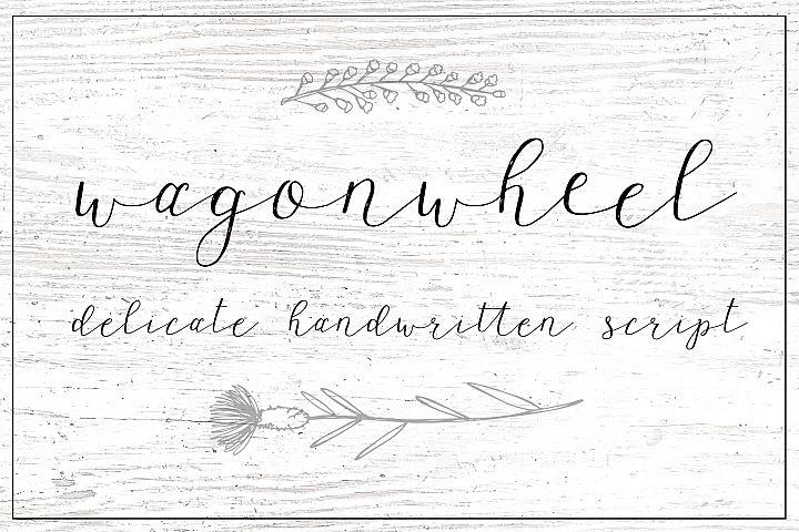 Wagonwheel Delicate Handwritten Script Font