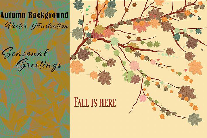 Autumn background. Seasonal greetings backdrop
