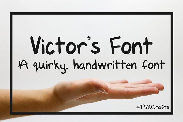 Font - Handwritten - Victors Font