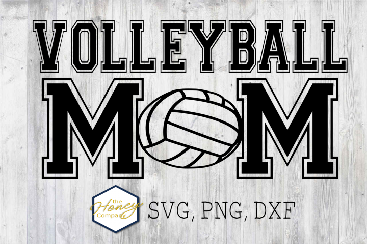 Volleyball Mom SVG PNG DXF Hand Lettered Clip Art Cut Files