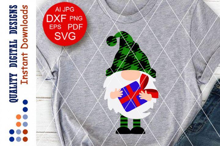 Merry Christmas svg Buffalo plaid svg Home decor