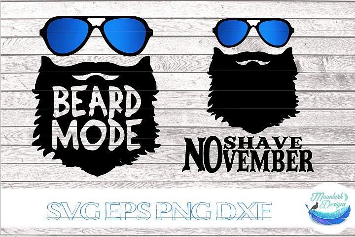 Beard Mode No Shave November | sunglasses cancer awareness