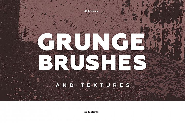 Grunge brushes and textures