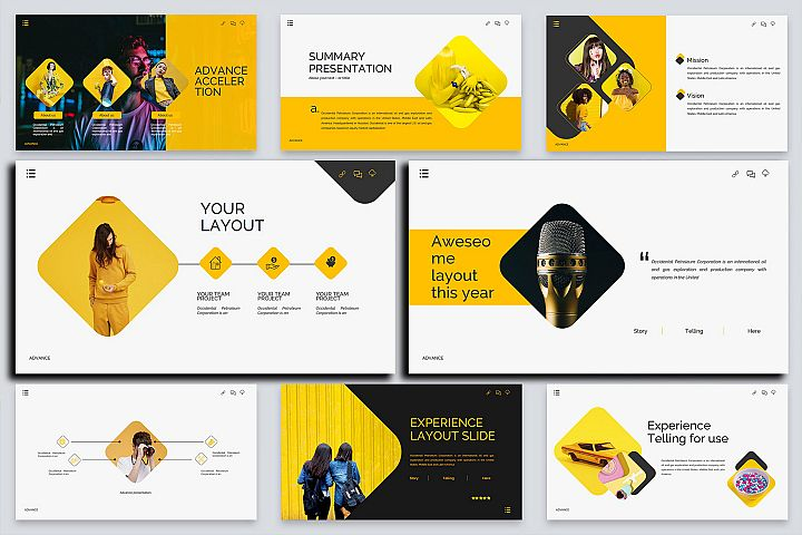 Advance Lookbook Keynote Template