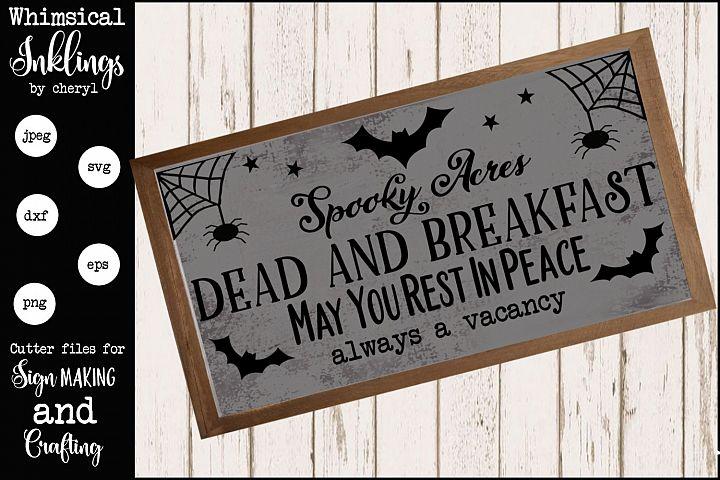 Dead and Breakfast Halloween SVG