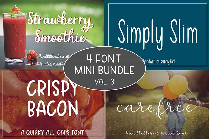 4 Font Mini Bundle - Volume 3