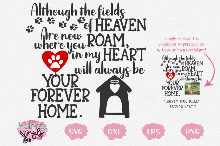 My Heart Will Always Be Your Forever Home - A Dog SVG
