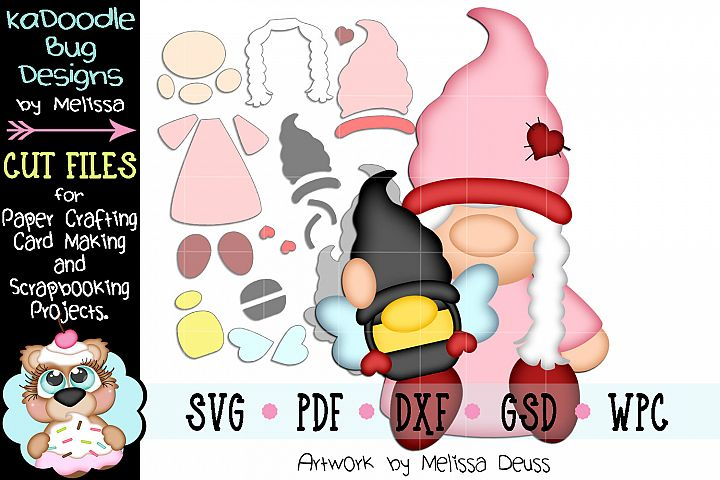 Bee My Gnomie Gnome Cut File - SVG PDF DXF GSD WPC