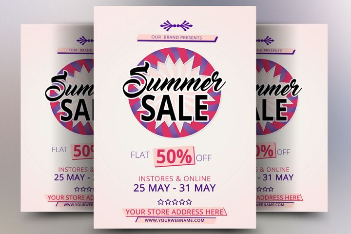 Flat Summer Sale Flyer