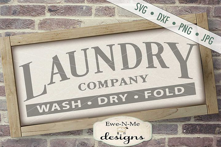 Laundry Company Wash Dry Fold SVG DXF Cut File