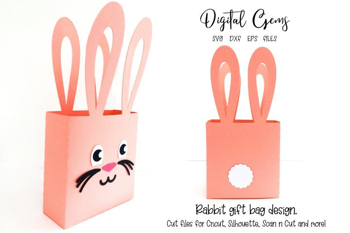 Rabbit ear gift bag design SVG / DXF / EPS files