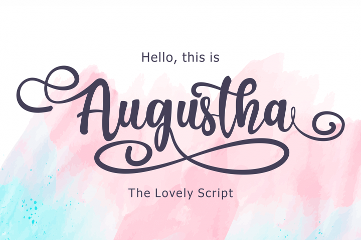 Augustha - Lovely Script