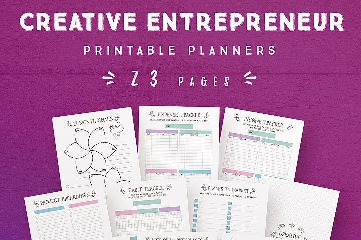 Creative Entrepreneur Printable Planners - 23 Pages