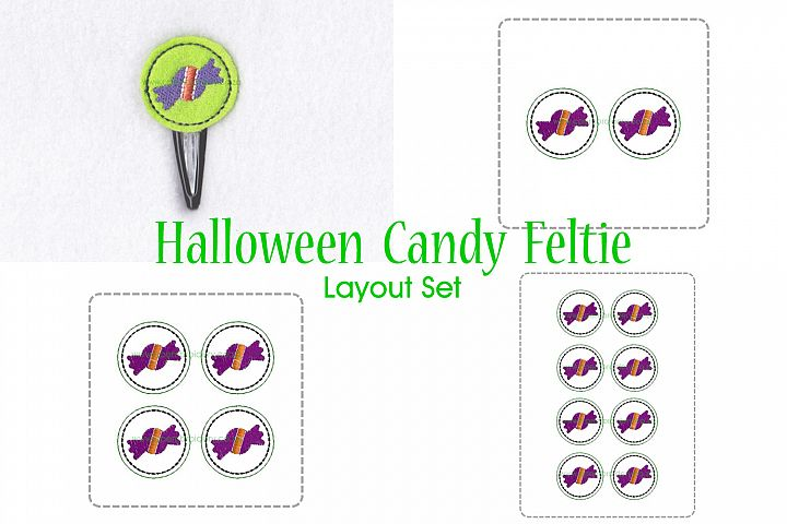 Halloween Candy ITH Halloween Feltie Embroidery Design