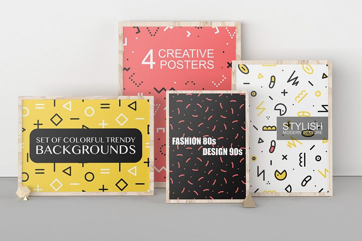 Memphis trendy abstract brochures