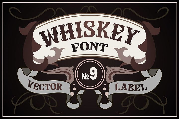 Vintage whiskey style font
