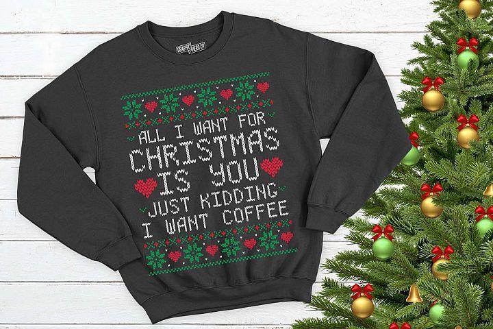 All I want for christmas is Coffee Christmas Printable