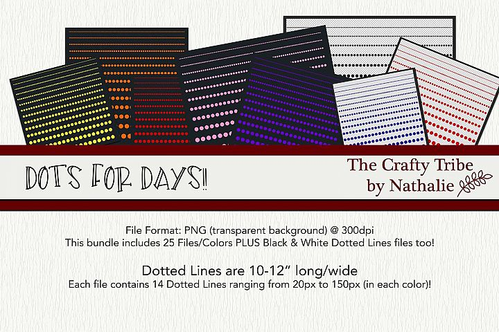 Dots For Days PNG Dotted Lines Dividers 25 Colors 14 Sizes