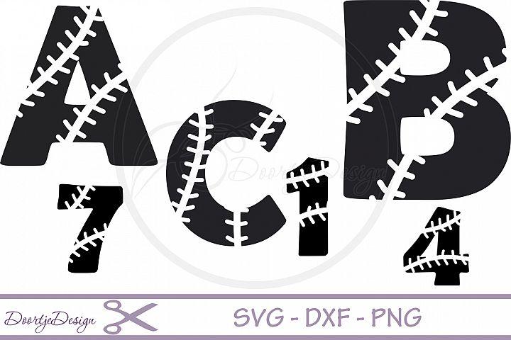 Baseball Alphabet svg files