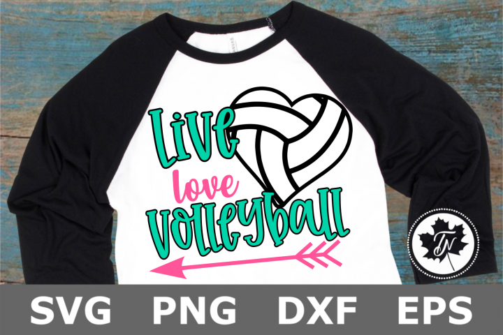 Live Love Volleyball Heart- A Sports SVG Cut File