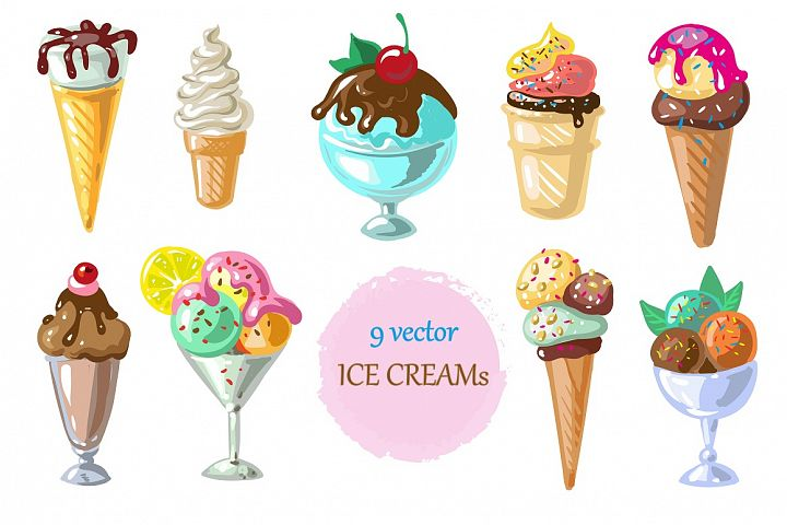 Vector ice creams