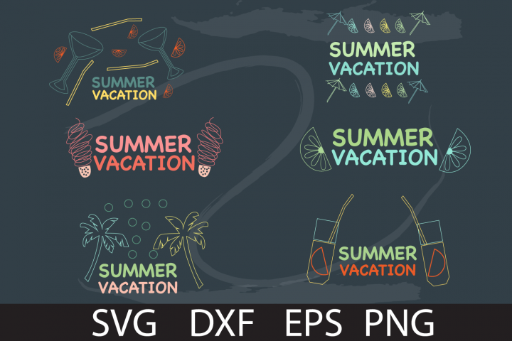 SUMMER HAND DRAW PACK SVG DXF PNG EPS