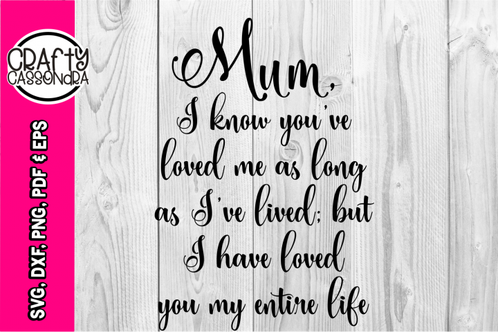 Mum quote - Mothers day - love - inspiration - Gifts for mum