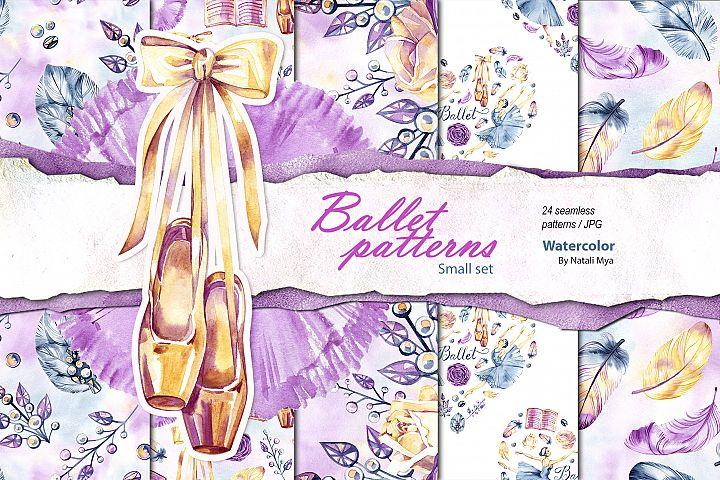 Watercolor ballet digital paper