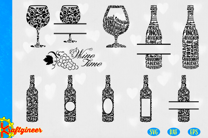 wine SVG | kitchen SVG