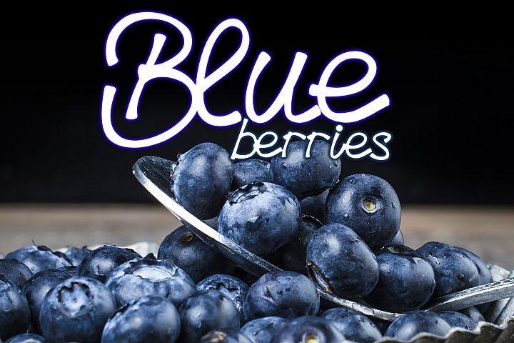 Blueberries - A Menu Font