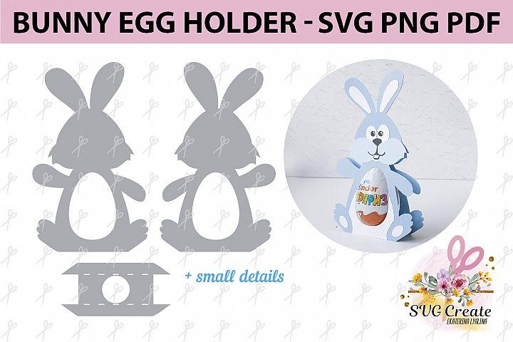 Kinder surprise egg holder, svg cutting file, Bunny template