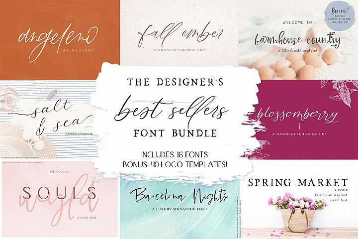 The Designers Best Sellers Font Bundle