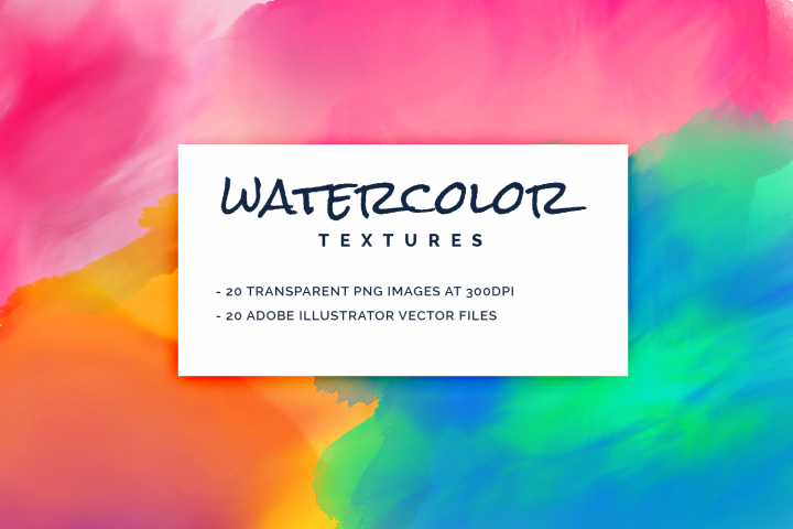 Watercolor Textures Pack (PNG and Vector)