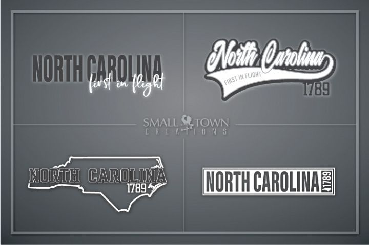 North Carolina, First in Flight-slogan, PRINT, CUT & DESIGN