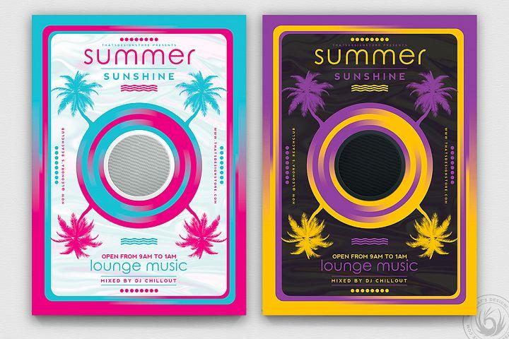Minimal Summer Flyer Template V3
