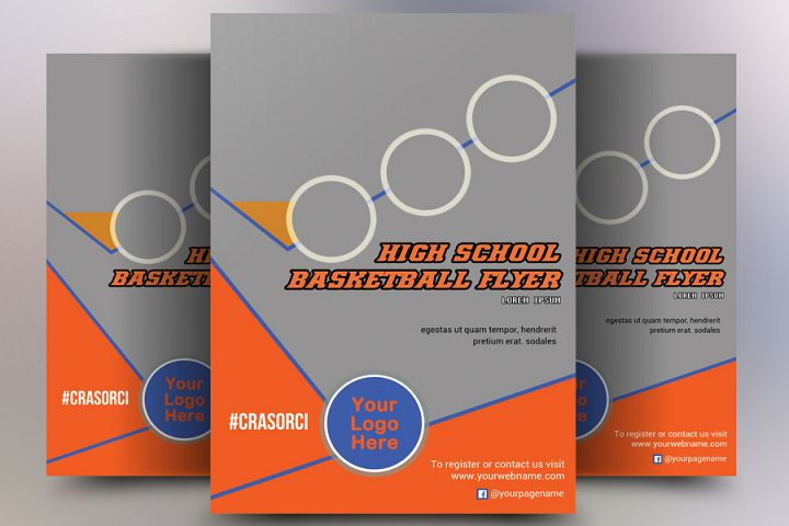 High School Basketball Flyer Templates