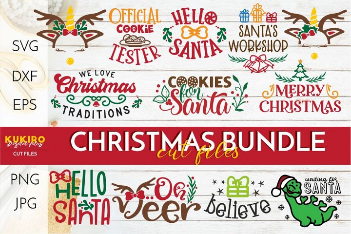 Christmas SVG Bundle - Christmas kids - Crafting Cut files