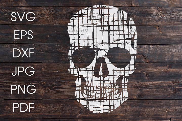 Distressed skull SVG
