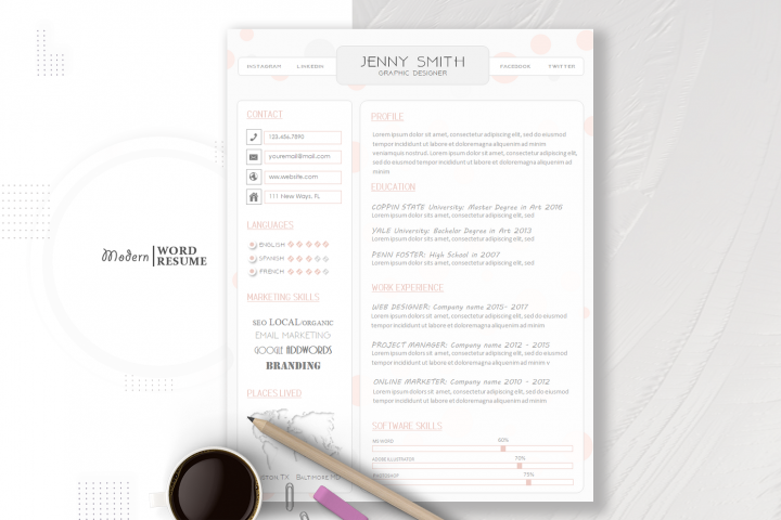 One Page Resume Template & Cover Letter