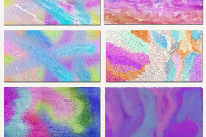 Free Watercolor & Oil Paint 17 Digital Papers example 4