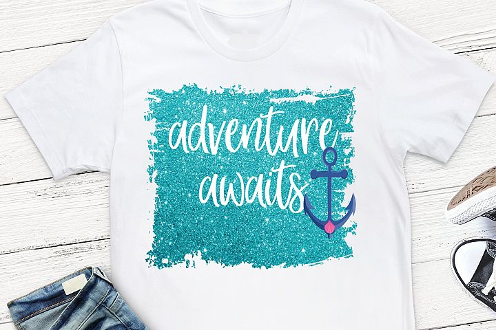 Adventure Awaits Sublimation Design,