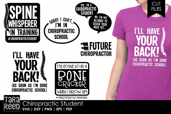 Chiropractor Student - SVG and Cut Files for Crafters